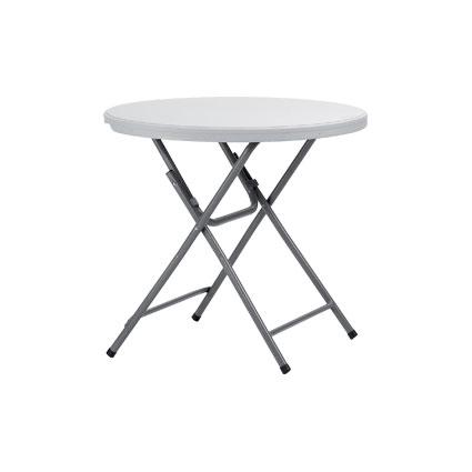 bord med gråa ben och grå skiva