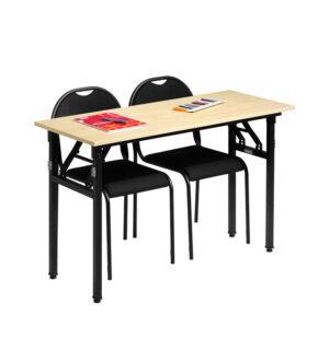 Utbildningsbord med stolar