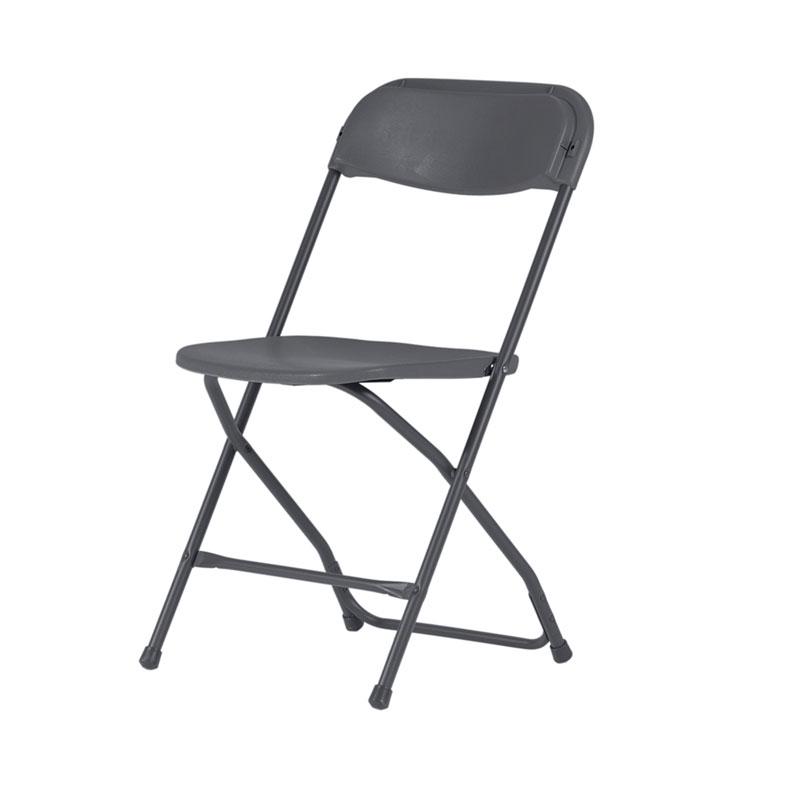 Mörkgrå plaststol